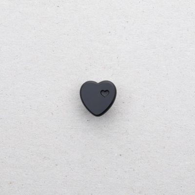 Glasknopf Herz